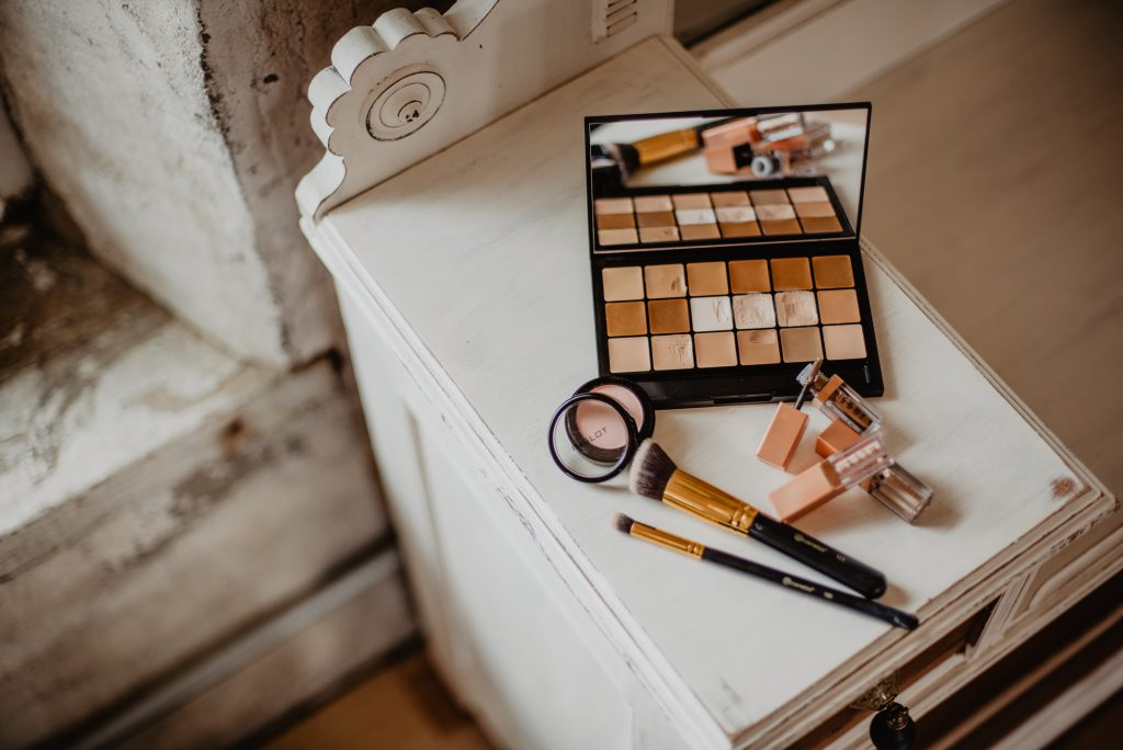 Cosmetic Products On Vanity
