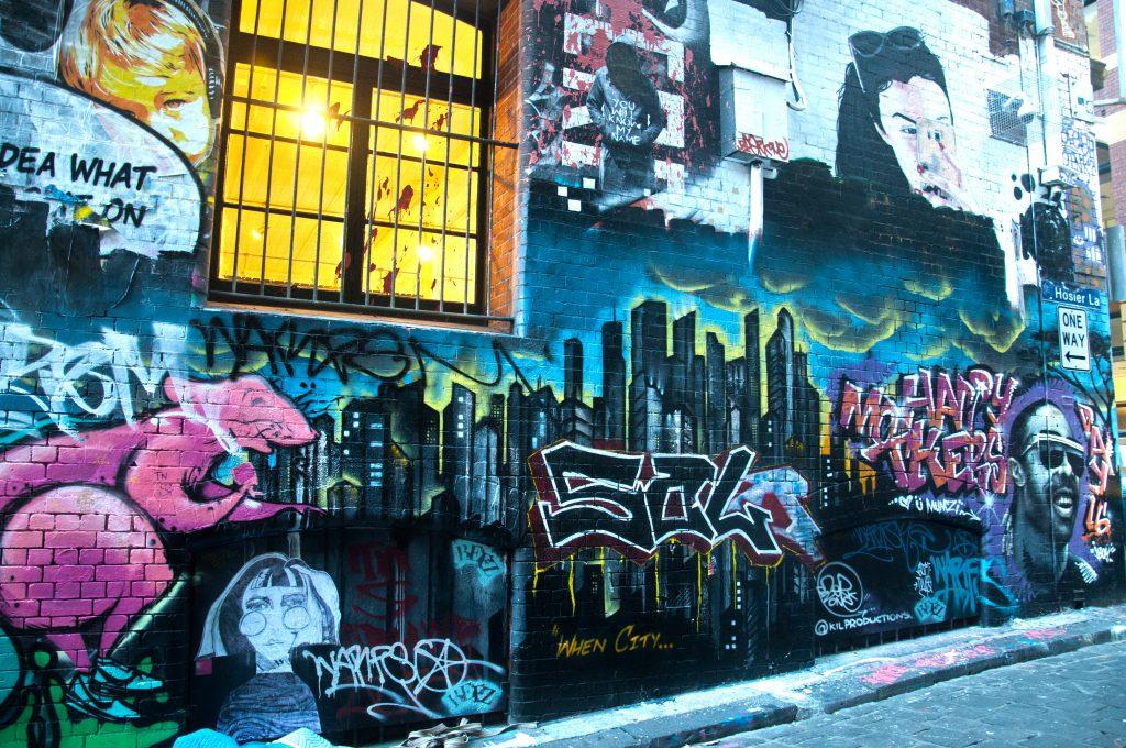 Photography of Graffiti Street Art on Brick wall