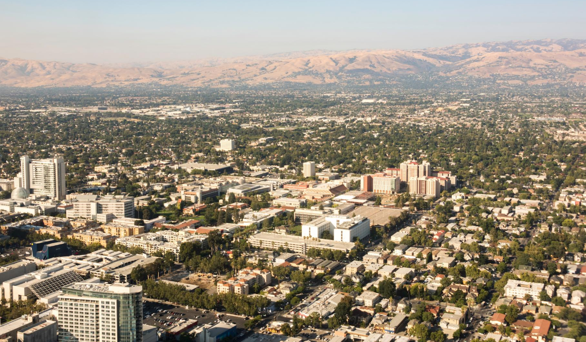 aerial view of san jose ca