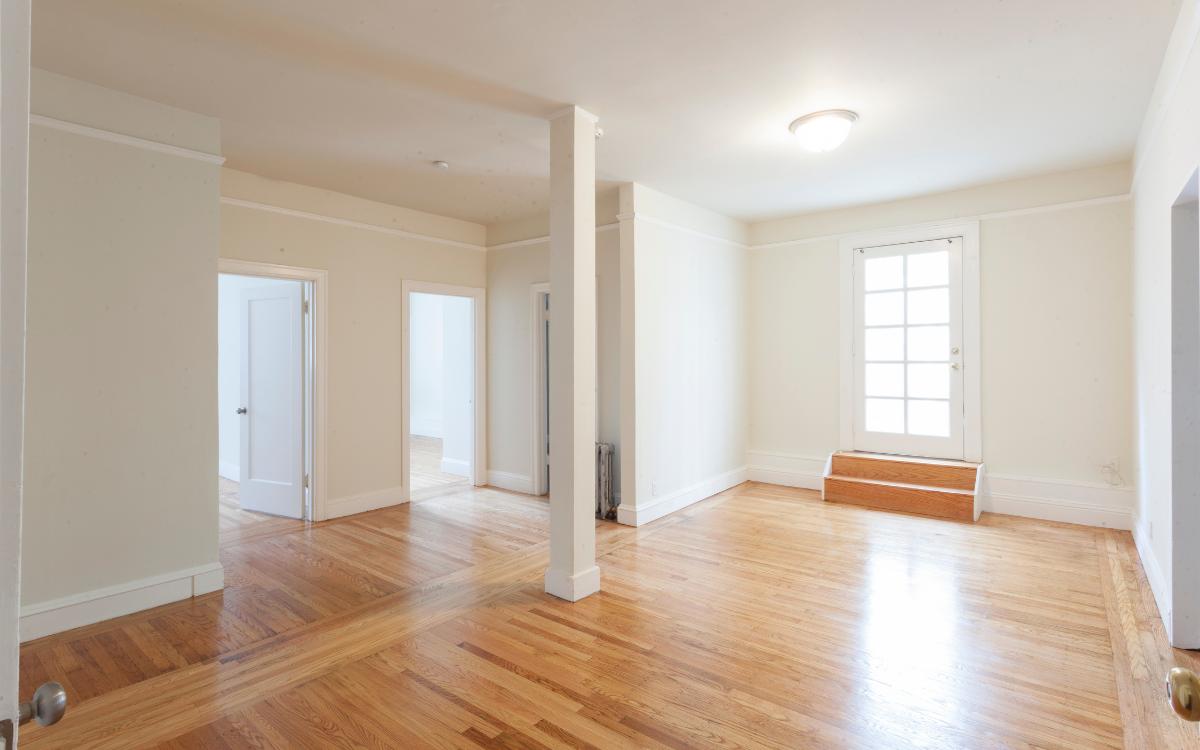 empty apartment clean bright wood floors