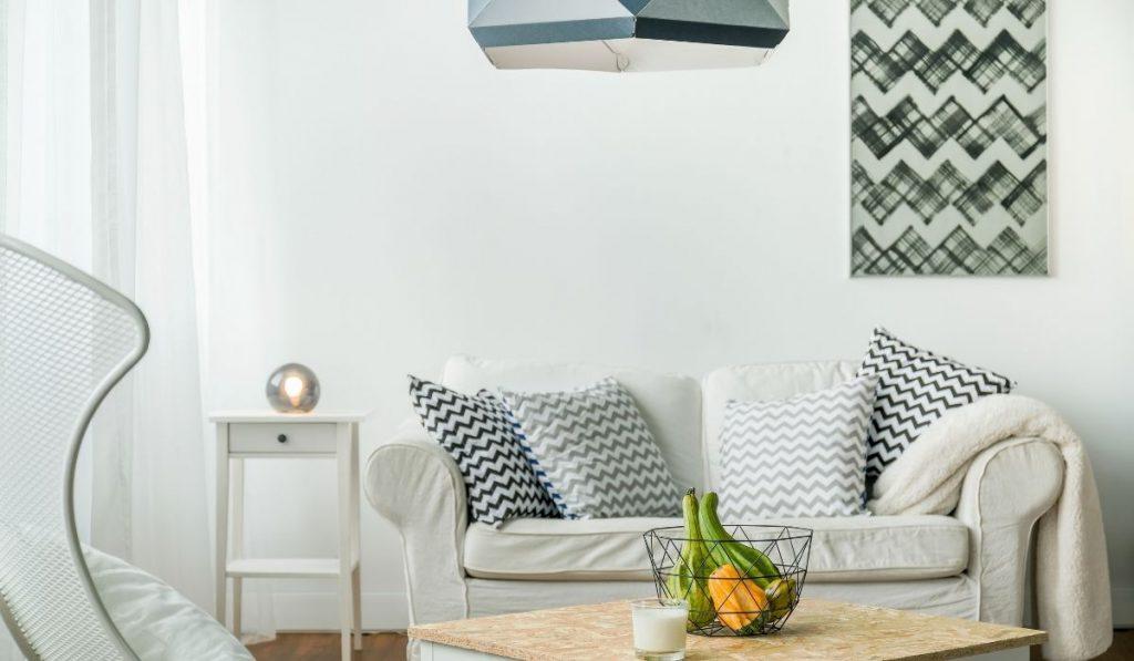 minimalist sofa; shade of gray colors